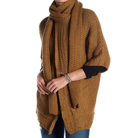 Vertigo Brown Women's Size Medium M Cardigan Open-Front Sweater