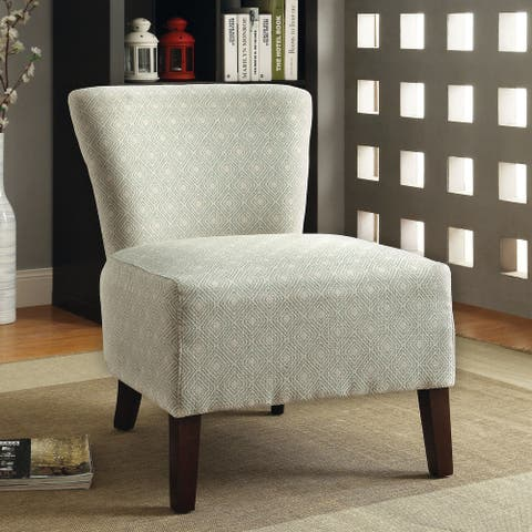 Furniture of America Lele Contemporary Fabric Padded Accent Chair