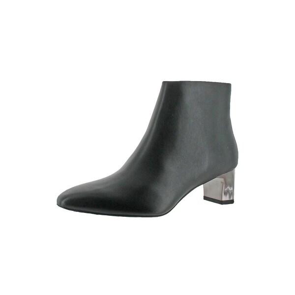 Calvin Klein Womens Mimette Ankle Boots Leather Almond Toe - 6 medium (b,m)