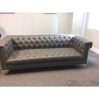 Shop Chic Home Patton Pu Leather Y Leg Sofa Grey On