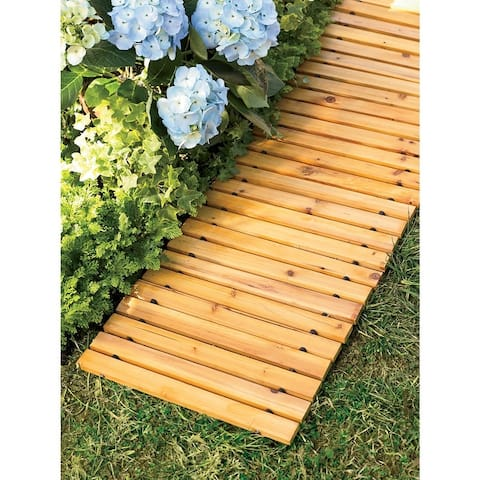 Plow and Hearth 6' Portable Roll-Out Straight Cedar Pathway