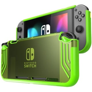 Mumba Nintendo Switch case, Premium Slim Clear Hybrid Protective Case for Nintendo Switch 2017 release (Clear/Green)