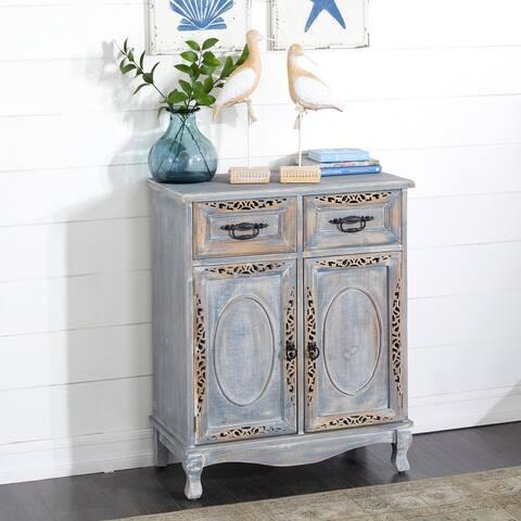 Grey Wood Vintage Cabinet 33 x 27 x 14 - 27 x 14 x 33