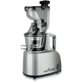 Nutrichef PKSJ40 Stainless Steel Countertop Masticating Slow Juicer & Drink Maker