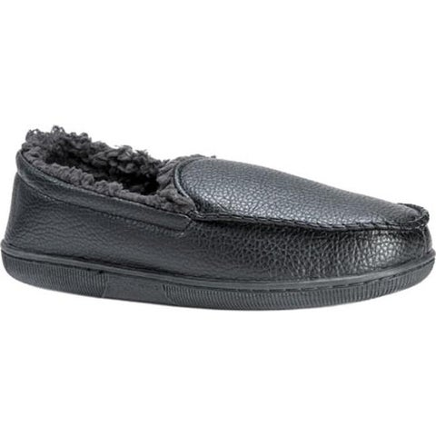 MUK LUKS Men's Moccasin Slipper Black