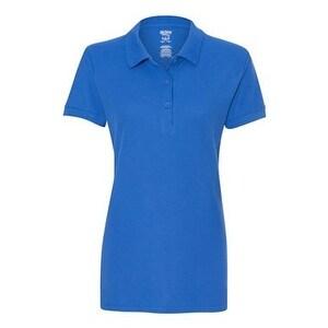 Gildan Premium Cotton Women's Double Pique Sport Shirt - Royal - S
