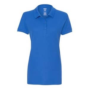 Gildan Premium Cotton Women's Double Pique Sport Shirt - Royal - S