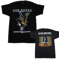 Bob Seger American Storm Soft T-Shirt - Medium - Black