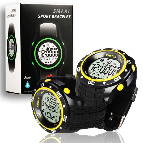 Indigi® Waterproof Bluetooth 4.0 Sports Watch + Call/SMS Notification + 1 YR Battery Life + Calorie Counter + Stopwatch