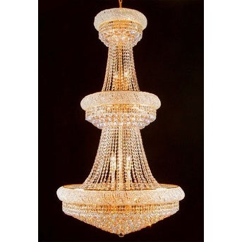 French Empire Crystal Chandelier Lighting H66 x W36 Perfect for Entryway/Foyer