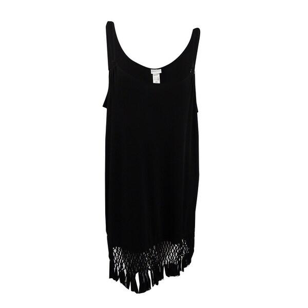 24b18a0bf9 Shop Dotti Women s Plus Macrame Fringe Cover-Up (Black