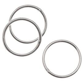 Sterling Silver Closed Jump Rings 8mm 21 Gauge (10)