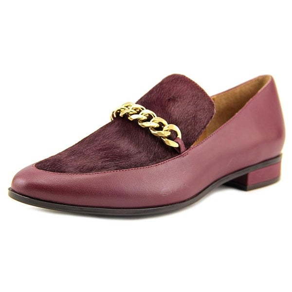 Calvin Klein Fanna Women Pointed Toe Synthetic Burgundy Loafer