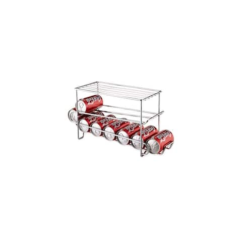 Organize It All 1841 12 Can Beverage Storage Wire Shelving Ranch - - Chrome