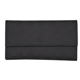 Gucci 257303 Black Nylon GG Guccissima Wallet W/Coin Pocket