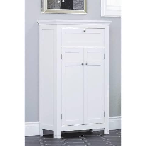 Spirich Home Freestanding Bathroom Cabinet with Doors Wooden Entryway Storage Cabinet,White