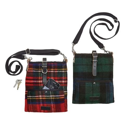 Patrick King Woollen Company Women's Scottish Tartan Crossbody Bag - Plaid Purse - One size