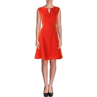 Tahari ASL Womens Elie Crepe Key Hole Wear to Work Dress - 8