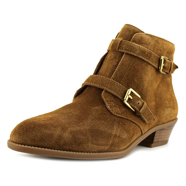 Franco Sarto L-Rynn Women Round Toe Suede Brown Ankle Boot