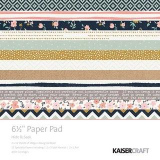 """Hide & Seek - Kaisercraft Paper Pad 6.5""""X6.5"""" 40/Pkg"""