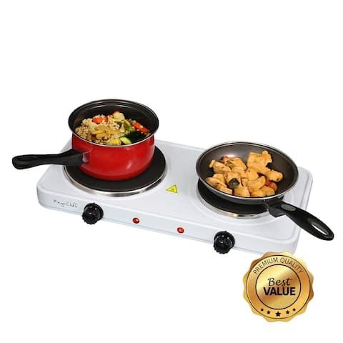 MegaChef Portable Double Burner Electric Cooktop