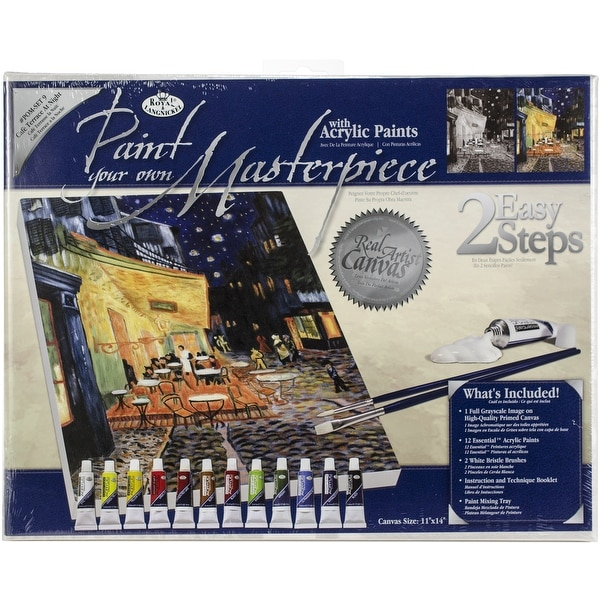 """Acrylic Paint Your Own Masterpiece Kit 11""""X14""""-Terrace At Night"""