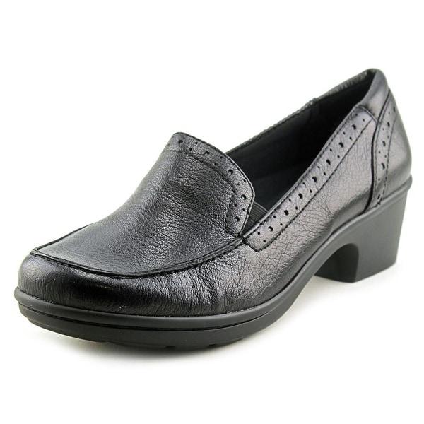 Easy Spirit Leoda Women W Round Toe Leather Black Loafer