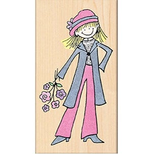 "Penny Black Mounted Rubber Stamp 2.25""X4""-Chic!"