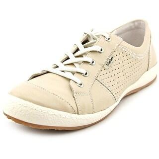 Josef Seibel Caspian Women Round Toe Leather Tan Sneakers