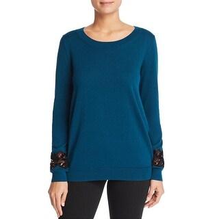 MICHAEL Michael Kors Womens Pullover Sweater Knit Velvet Lace