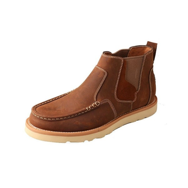 Twisted X Casual Shoes Mens Slip On Driving Mocs Oiled Brown