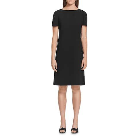 Lafayette 148 New York Womens Cohen Wear to Work Dress Shift Pleated Sleeve