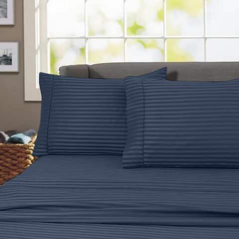 Porch & Den Jericho Stripe 600 TC Egyptian Cotton Bed Sheet Set