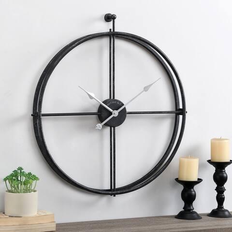 FirsTime & Co. Black Alwan Industrial Clock