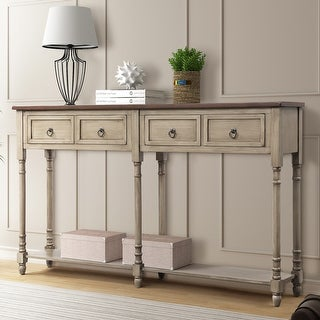 Link to Antique Grey Console Table Entryway Table with Drawers and Shelf Similar Items in Living Room Furniture