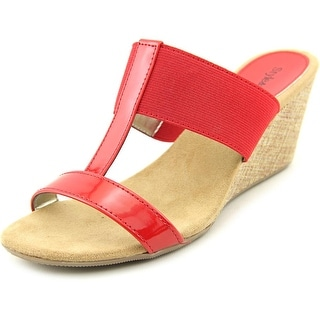 Style & Co Vern Women Open Toe Synthetic Red Wedge Sandal