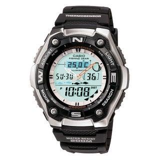 Casio aqw101-1av fishing timer ana digital - Black