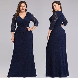 Ever-Pretty Womens Elegant Lace Half Sleeve Plus Size Evening Dresses 07682  | Overstock.com Shopping - The Best Deals on Evening & Formal Dresses
