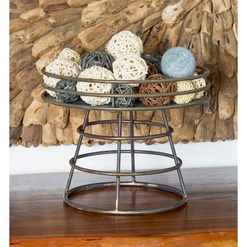 Multi Dried Plant Material Coastal Orbs & Vase Filler Nature (Set of 3) - 5 x 5 x 12Round