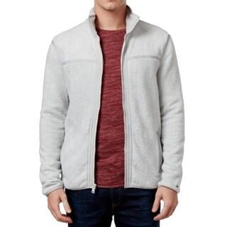 Tommy Hilfiger NEW Gray Silver Mens Size Large L Full Zip Fleece Jacket