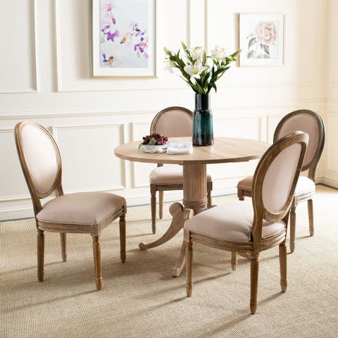 """SAFAVIEH Dining Old World Holloway Beige Oval Dining Chairs (Set of 2) - 19.8"""" x 20"""" x 39"""""""