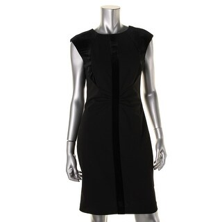 Ivanka Trump Womens Sleeveless Knee-Length Wear to Work Dress