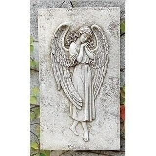 "15.5"" Joseph's Studio Religious Angel Relief Outdoor Garden Patio Wall Plaque Decoration"