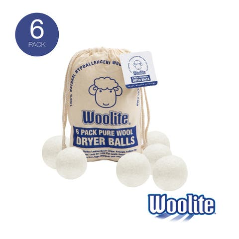 Woolite 6 Pack Wool Dryer Ball Set - 2.83x2.83x2.83