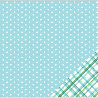 """American Crafts Basics Double-Sided Cardstock 12""""X12""""-Sky Blue Dot"""