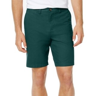 Tommy Hilfiger Green Bug Mens Size 35 Flat Front Chinos Shorts