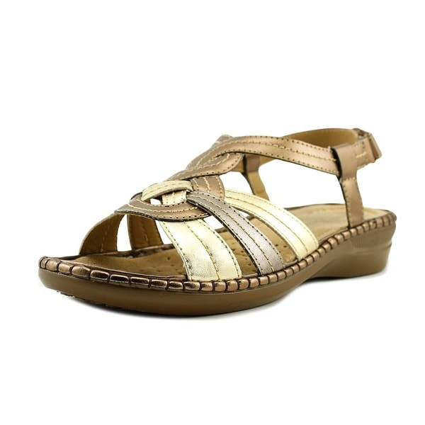 Studio Works Marybelle Women Open-Toe Synthetic Gold Slingback Sandal