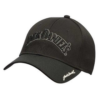 Jack Daniels Men's Performance Baseball Cap Hat Poly/Spandex Black/Gray JD77-114