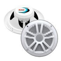 BOSS Audio MR6W 180 Watt (Per Pair), 6.5 Inch, Full Range, 2 Way Weatherproof Marine Speakers (Sold in Pairs)
