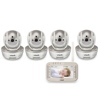 VTech VM343-4 Safe and Sound Video Baby Monitor with 4 Cameras